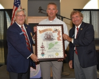 Urban Meyer is inducted into the Elite Corps of the Association