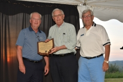 C. Luther Heckman receives James A. Rhodes Award from Steve Landerman and Grand Commodore Alan Stockmeister