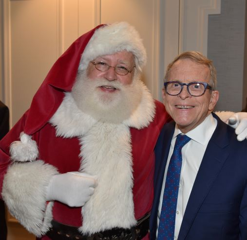 Governor Mike DeWine and Santa