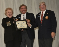 Lifetime Membership Chair Ginni Ragan, Fleet Commodore Sam Covelli and Grand Commodore Alan Stockmeister
